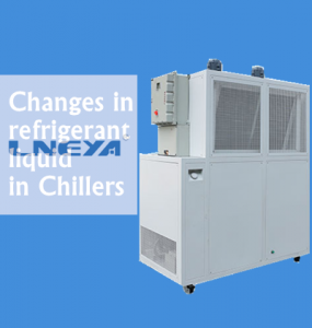 All analysis of refrigerant changing process of industrial chiller unit